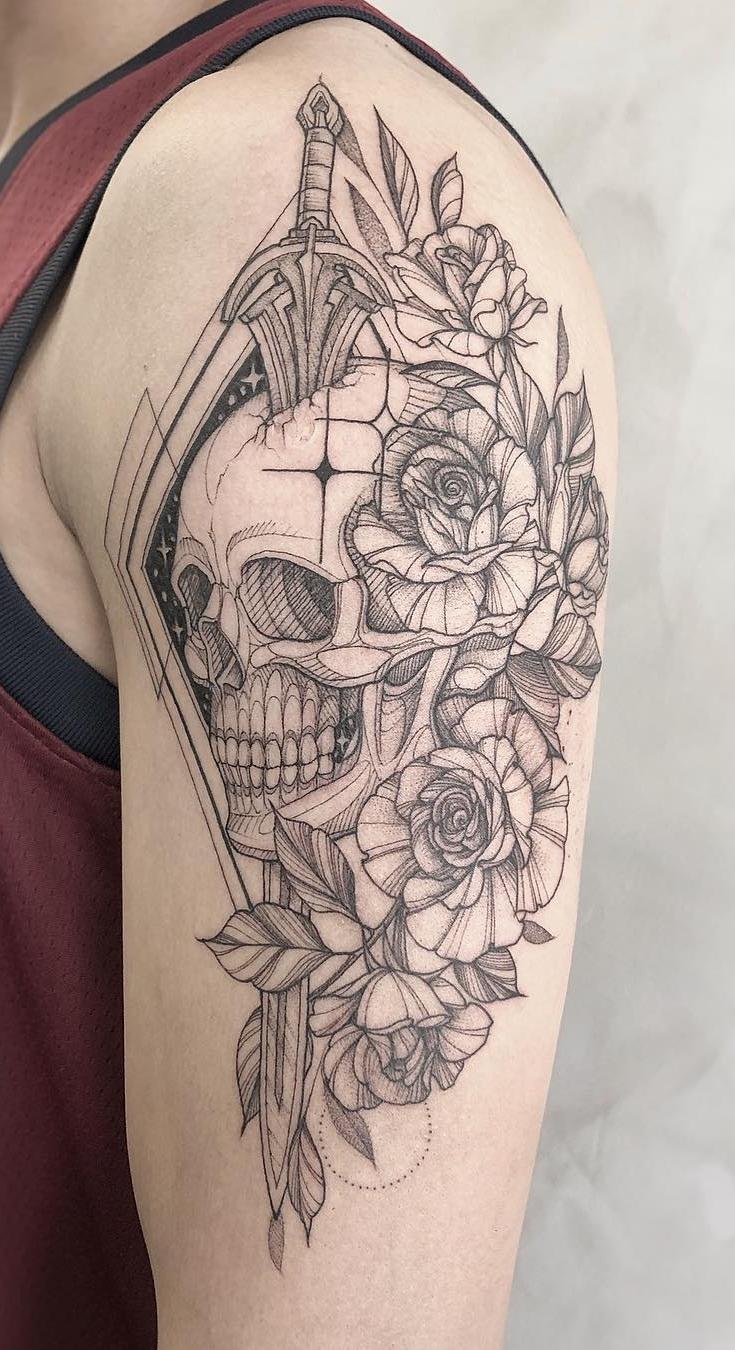 Fotos-de-tatuagens-de-caveira-7