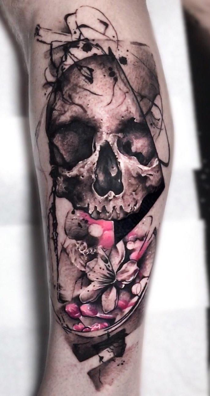 Tatuagem-realista-de-caveira