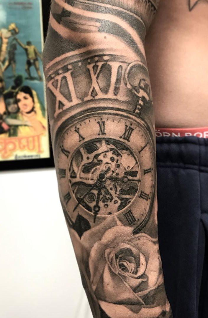 180 tatuagens de rel243gios incr237veis para voc234 se inspirar