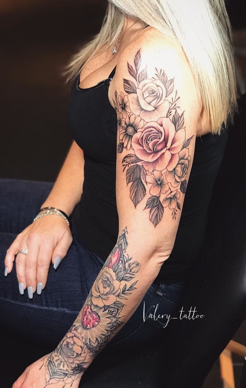 Tatuagens-femininas-de-braço-fechado-13