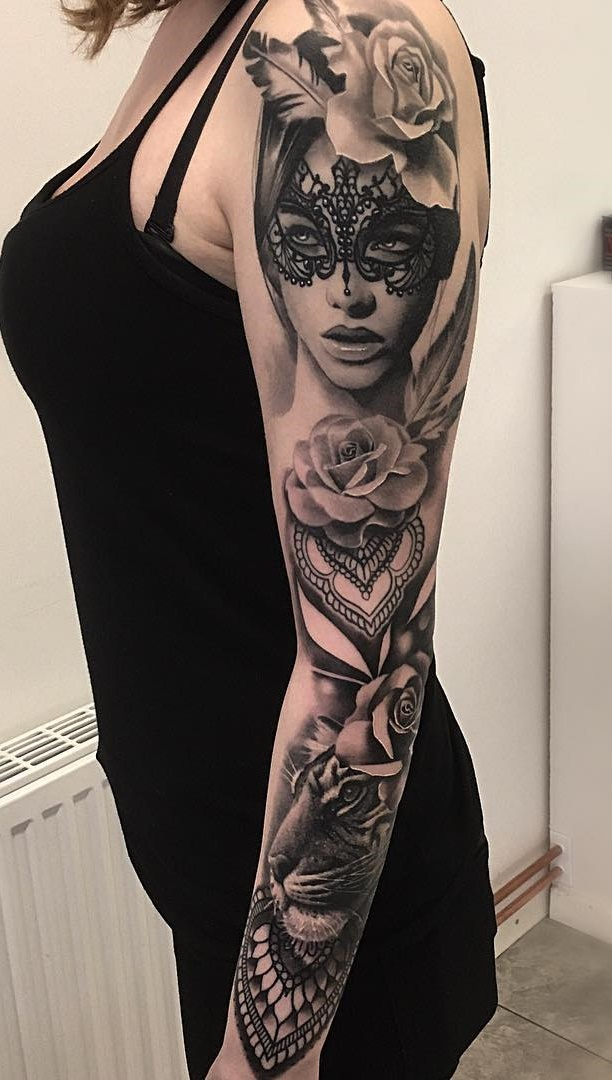 50 Tatuagens De Braço Fechado Femininas Para Se Inspirar