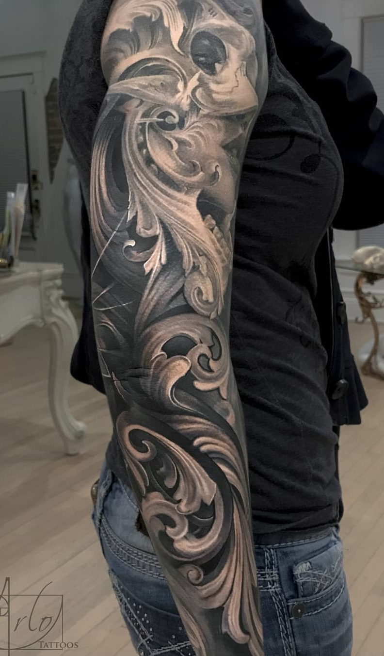 Tatuagens-femininas-de-braço-fechado-8