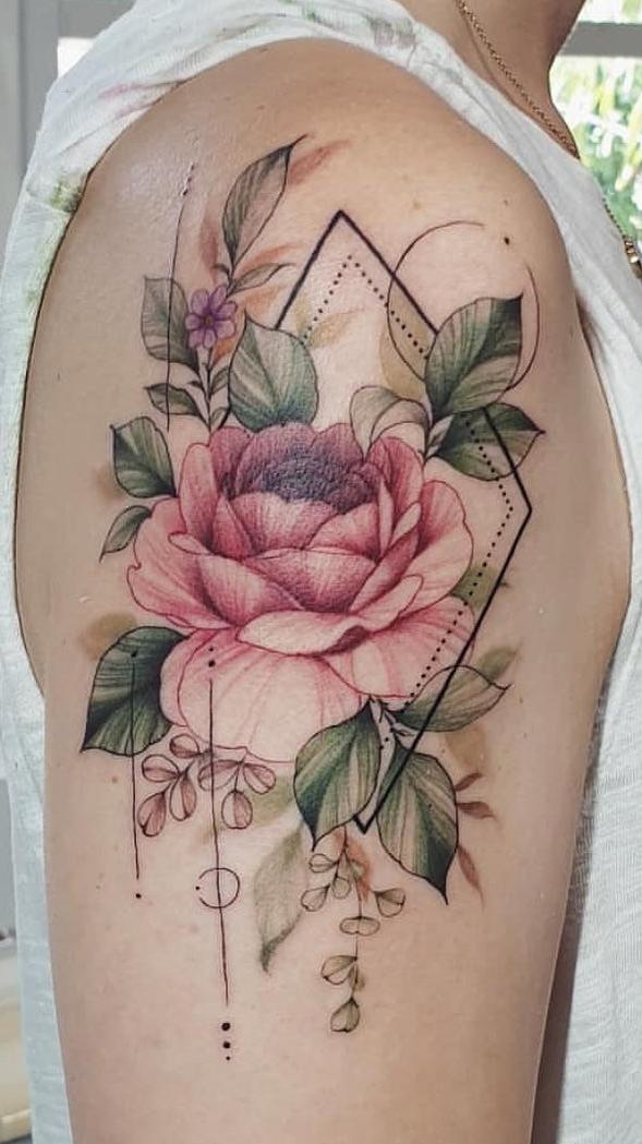 30 Tatuagens Na Parte Superior Do Braço Feminino Toptatuagens