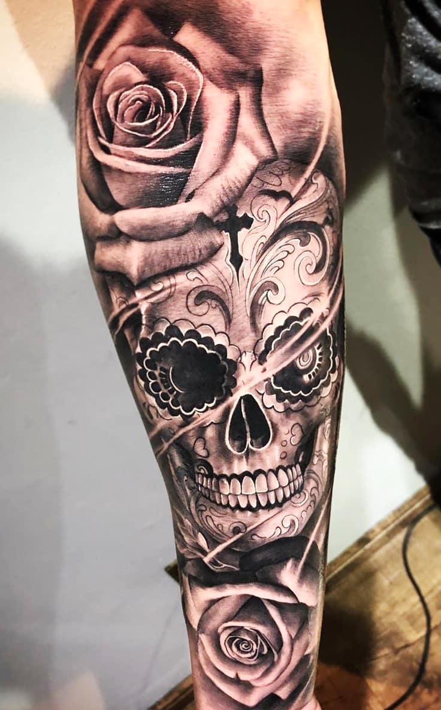 tatuagem-de-caveira-no-antebraço-2