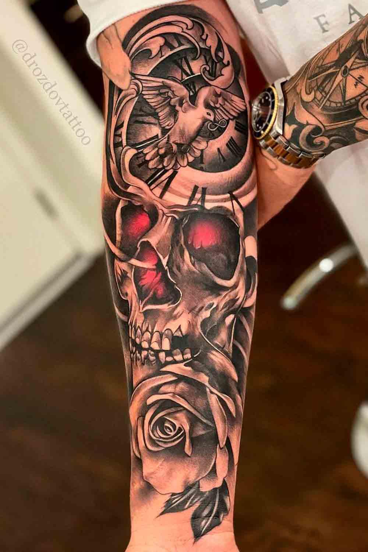tatuagem-de-caveira-no-antebraco