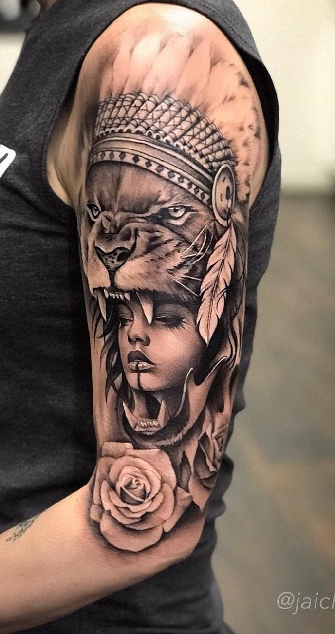 tatuagem-de-leão-feminina-2