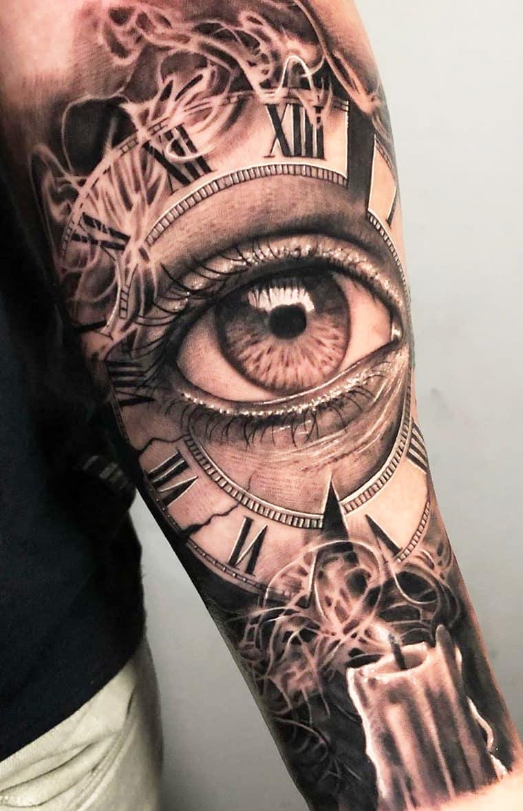 tatuagem-de-relogio-no-antebraço