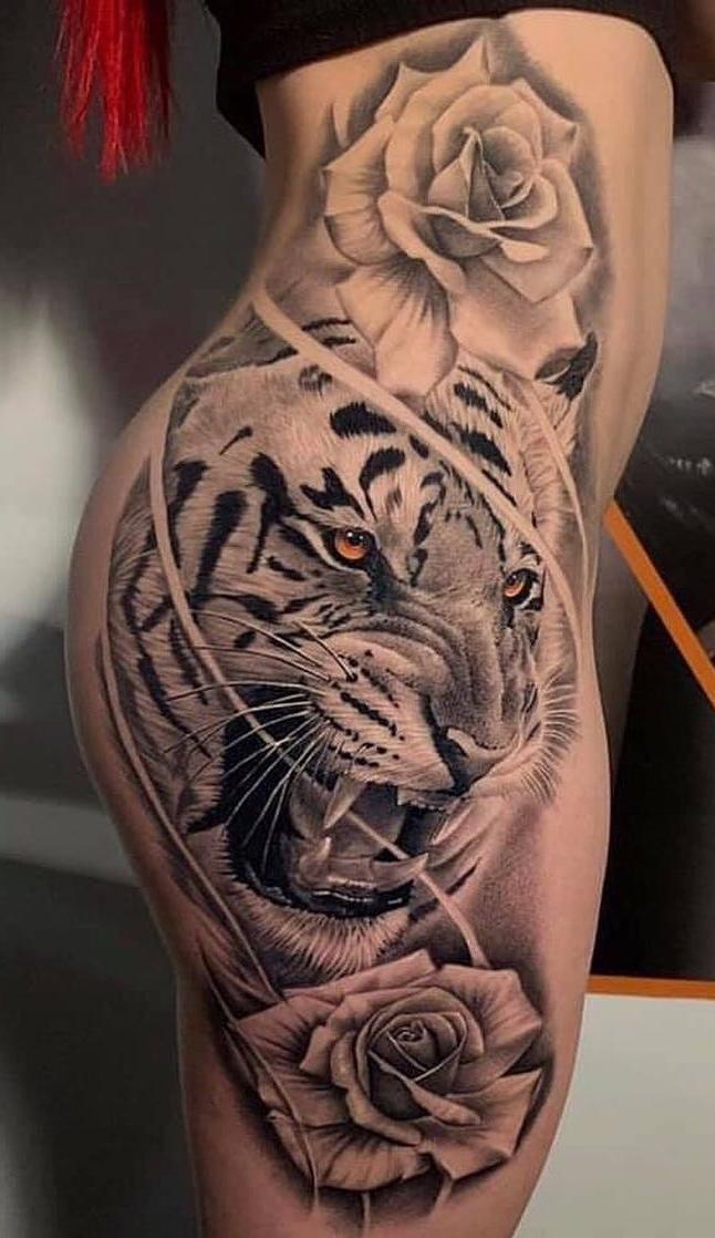 tatuagem-de-tigre-na-coxa