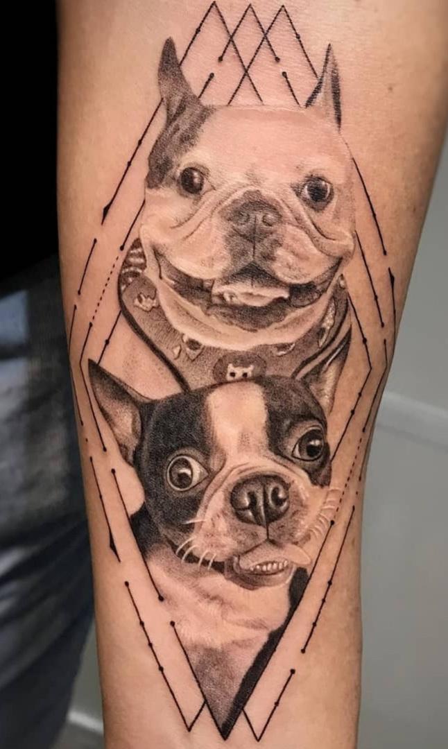 tatuagem-geometrica-de-cachorro