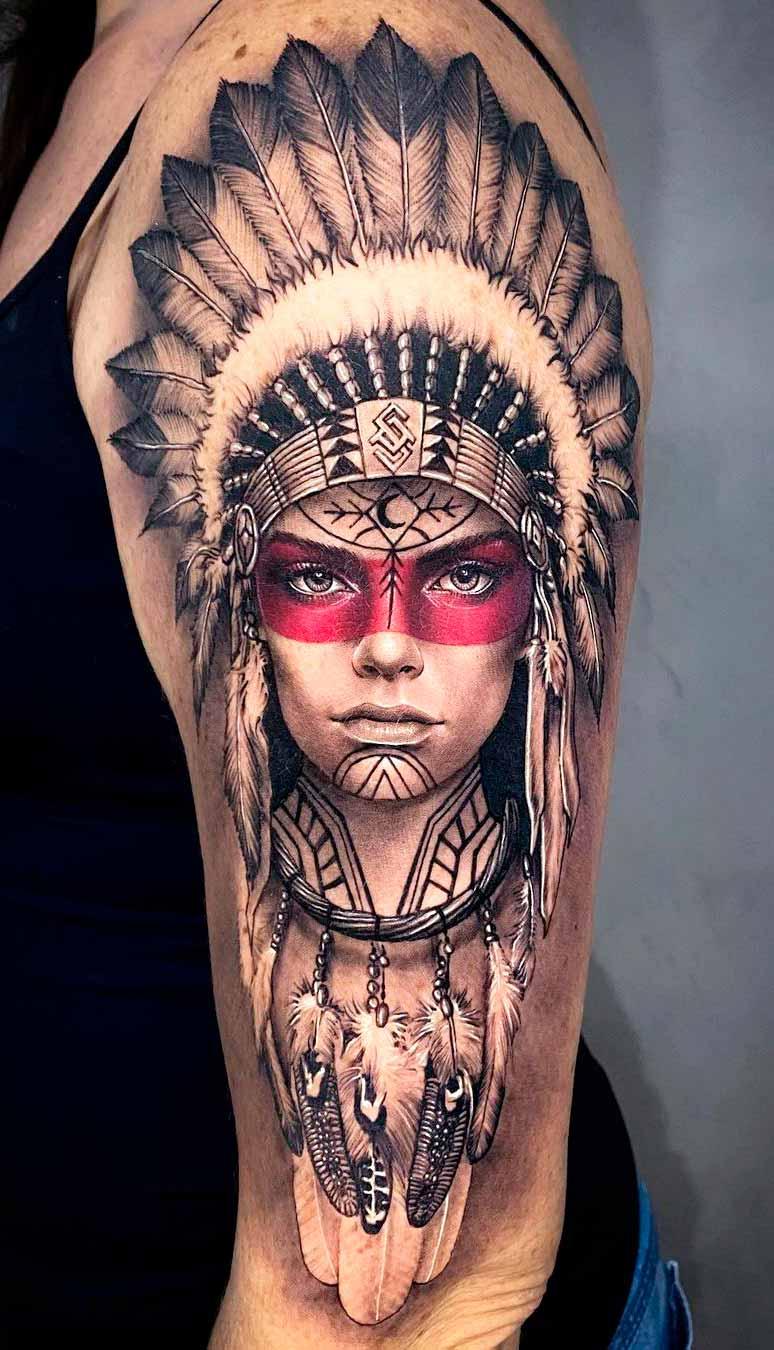 tatuagem-realista-de-india