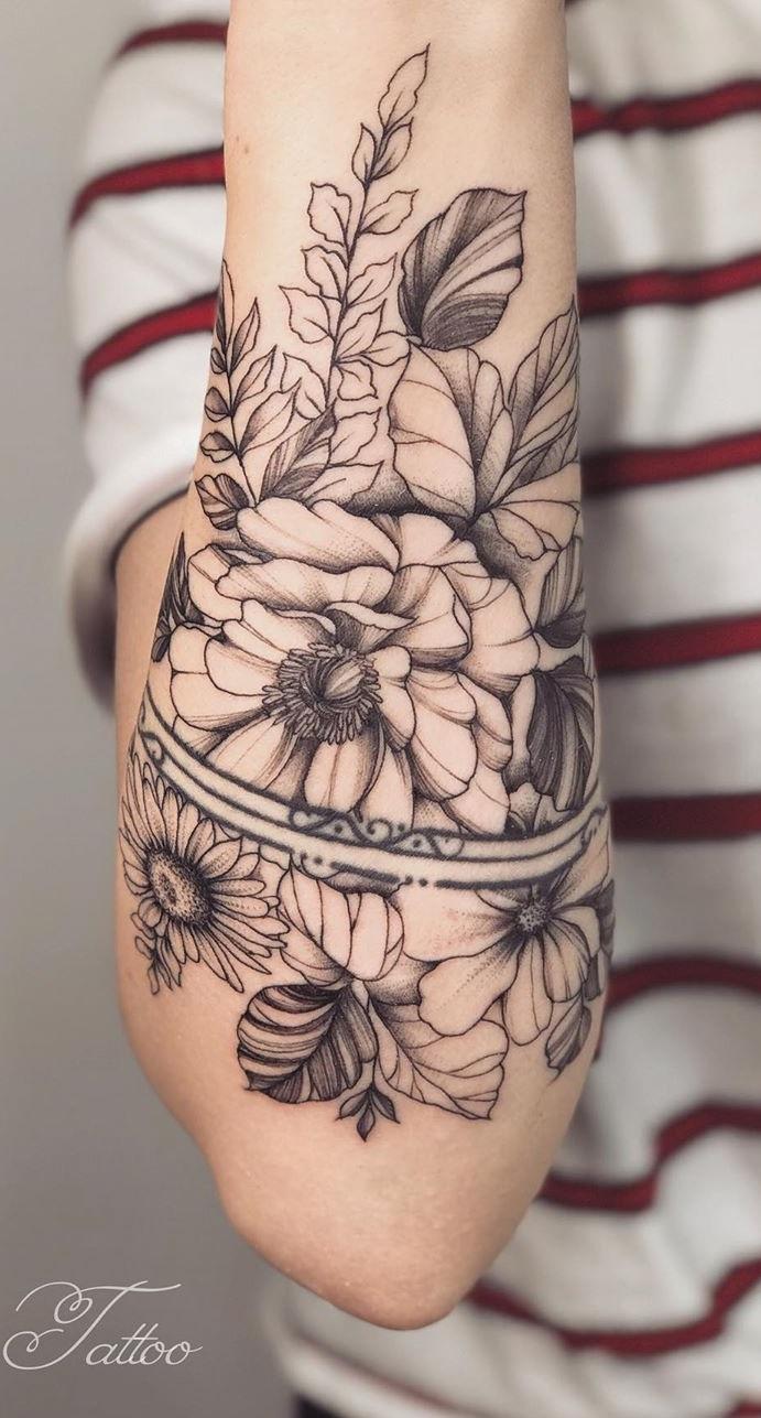 tatuagens-de-flores-no-antebraço-1