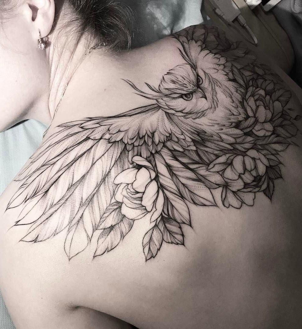 Tatuagens-femininas-de-coruja-15