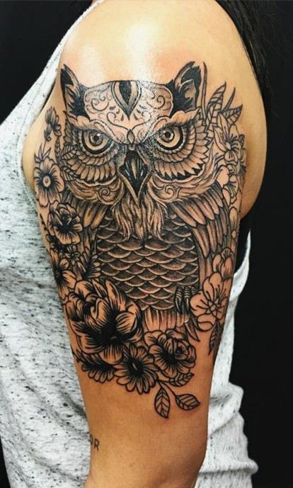 Tatuagens-femininas-de-coruja-63