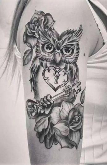 Tatuagens-femininas-de-coruja-77