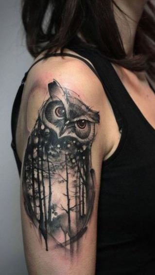 Tatuagens-femininas-de-coruja-78