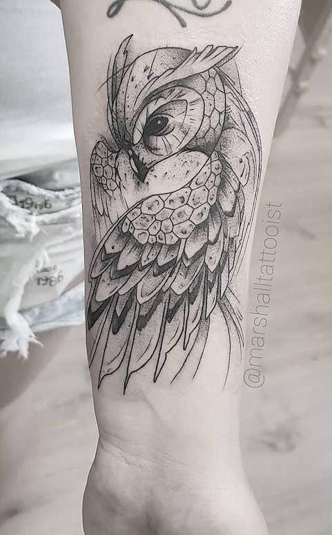 Tatuagens-femininas-de-coruja-88