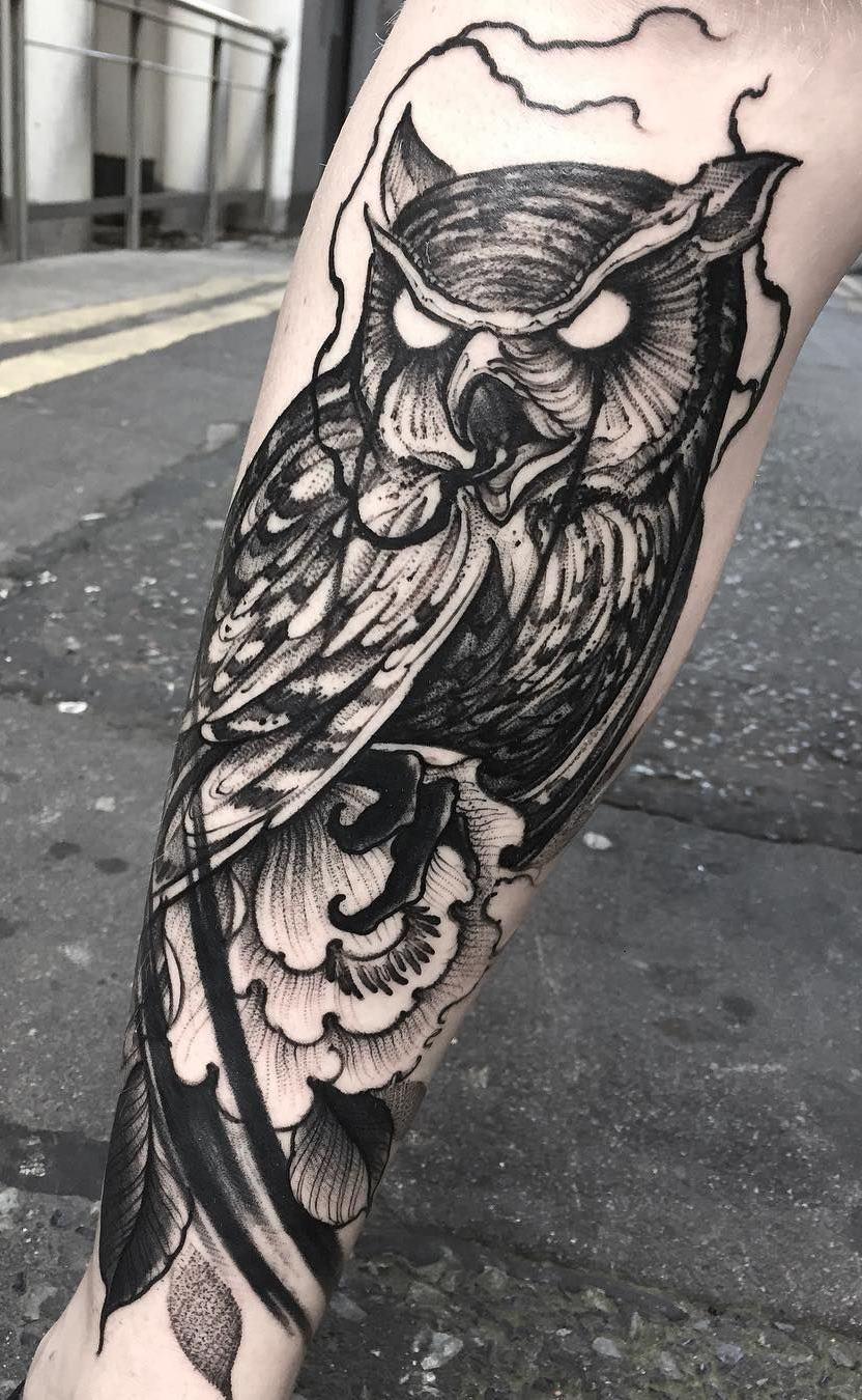 Tatuagens-masculinas-de-coruja-8