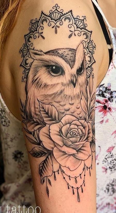 tatuagem-de-coruja