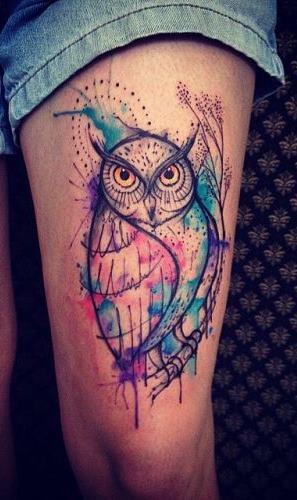 tatuagens-aquarela-de-coruja-9