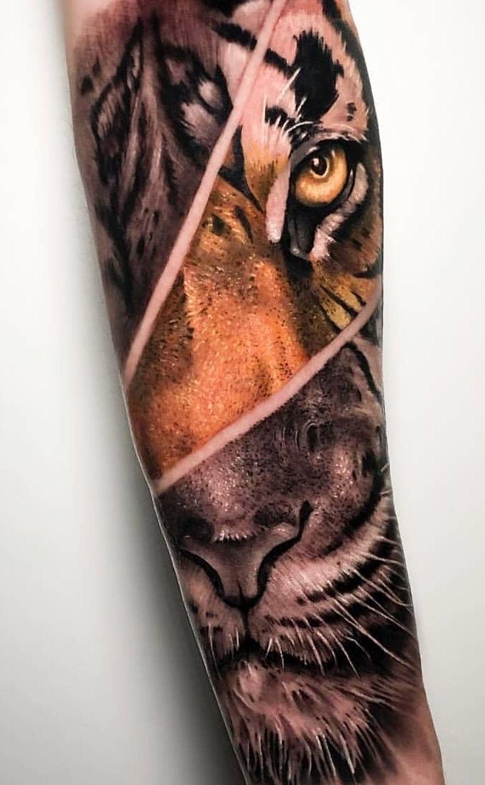 Tatuagem-de-tigre-masculina-no-antebraço