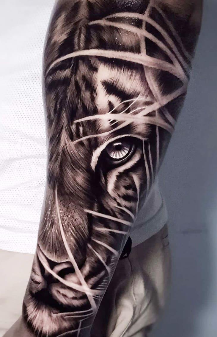 tatuagem-no-antebraço-de-tigre