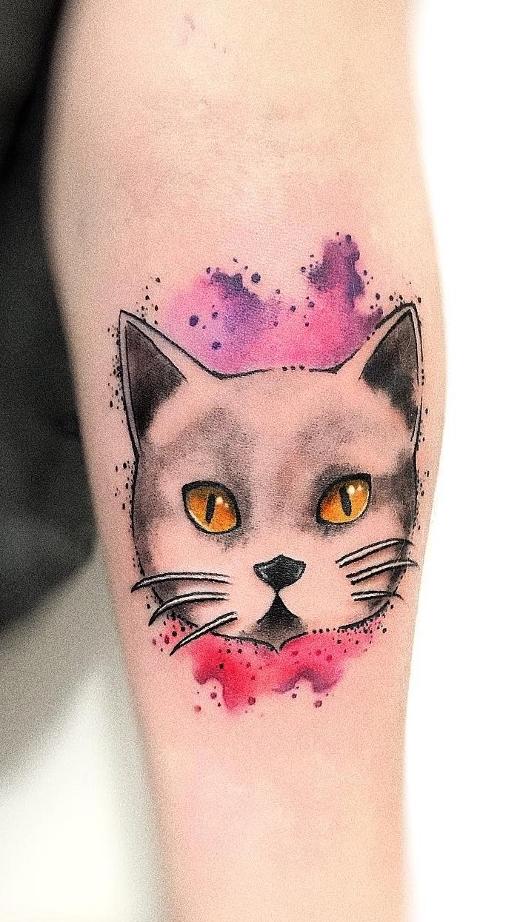 Tatuagens-de-gatos-em-aquarela-7