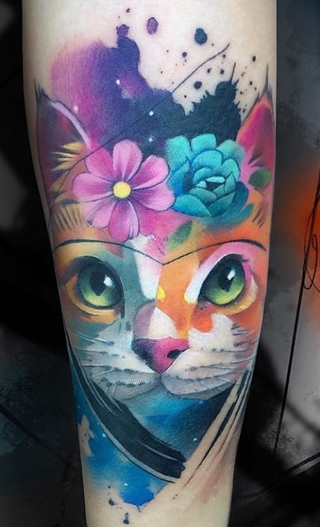 Tatuagens-de-gatos-em-aquarela-9