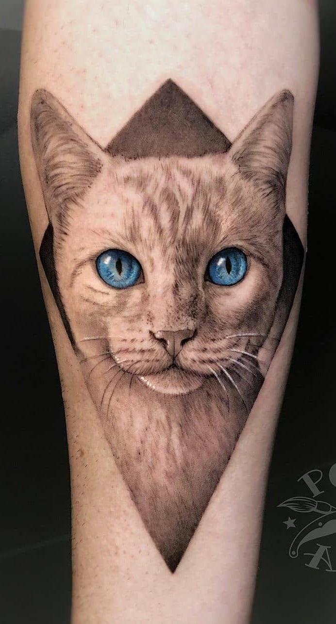 tatuagem-realista-de-gato