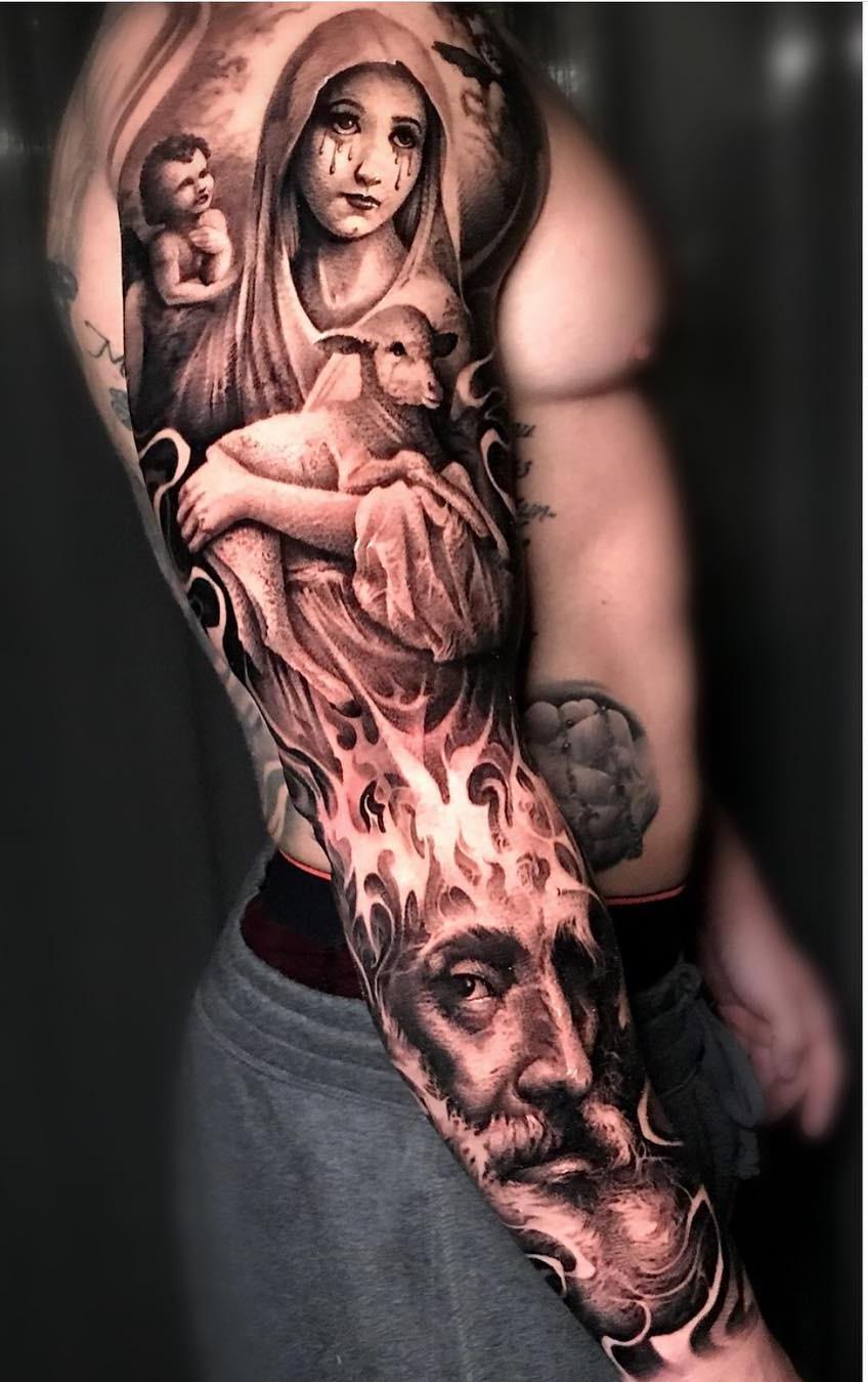 Braço-fechado-de-tatuagens-masculinas-34