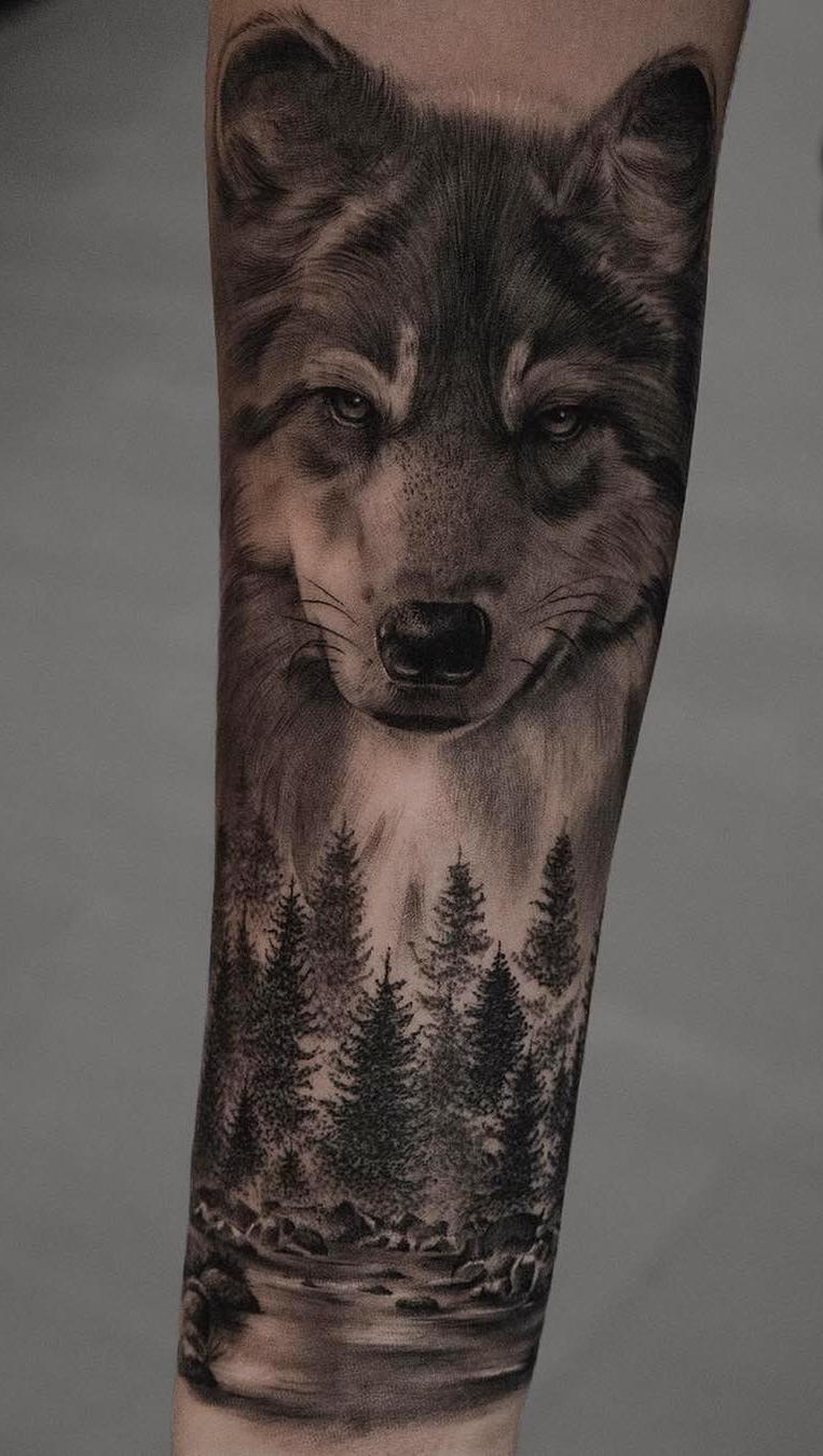 Tattoo-wolf-2