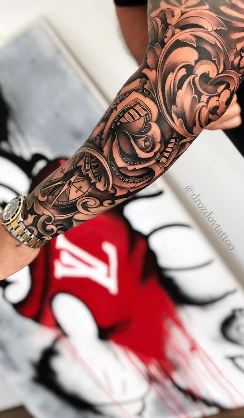 Tatuagem-de-rosa-de-dinheiro