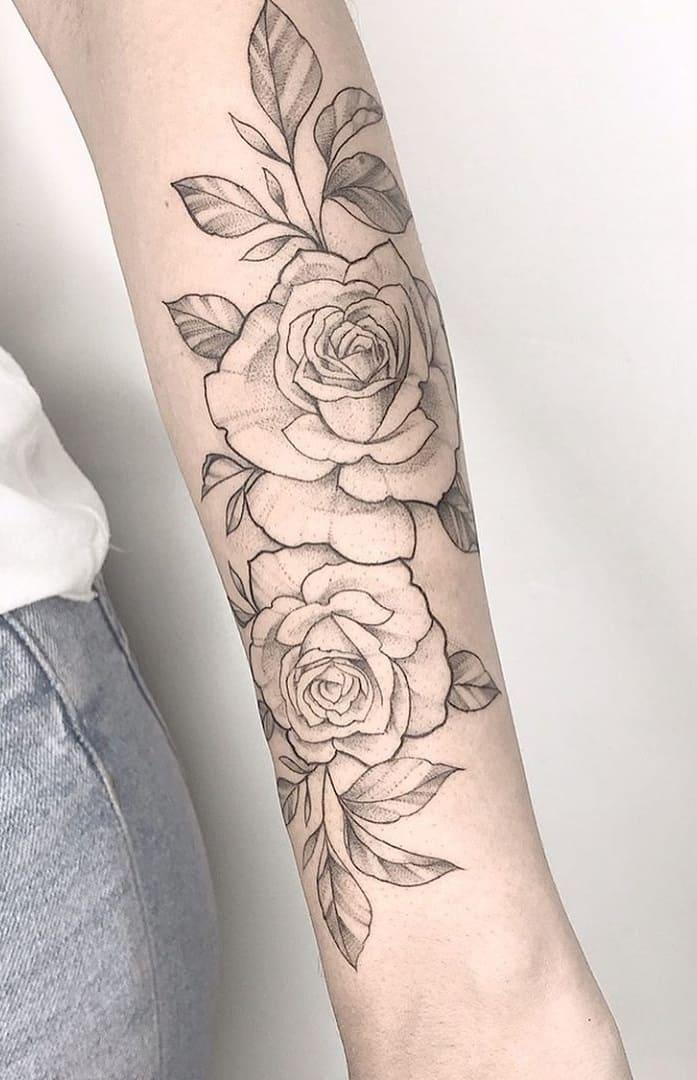Tatuagens-floridas-no-antebraço-23