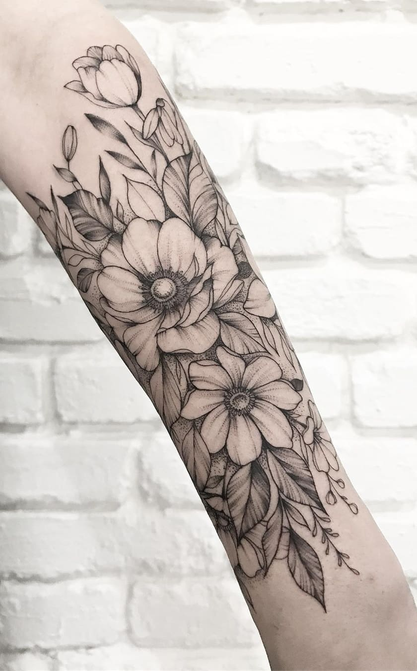 Tatuagens-floridas-no-antebraço-4