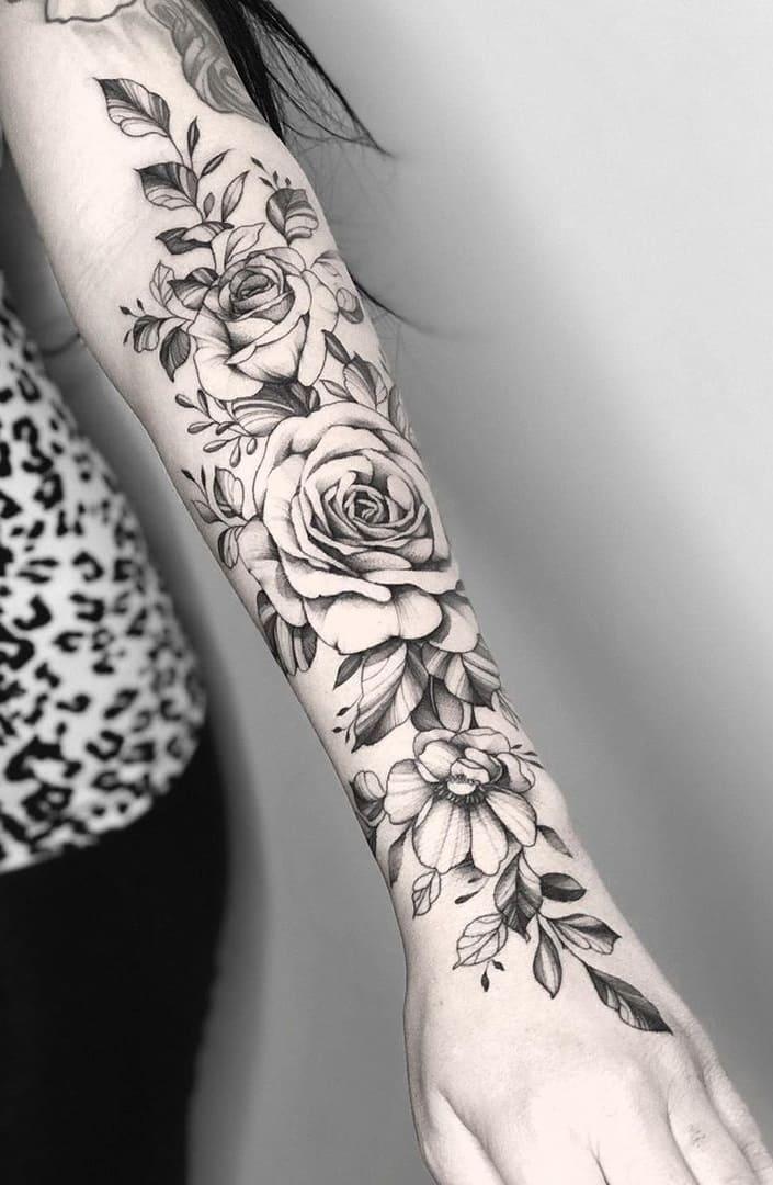 Tatuagens-floridas-no-antebraço-6