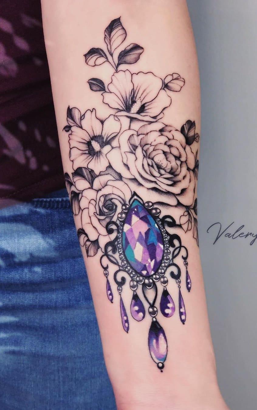 Tatuagens-floridas-no-antebraço-7