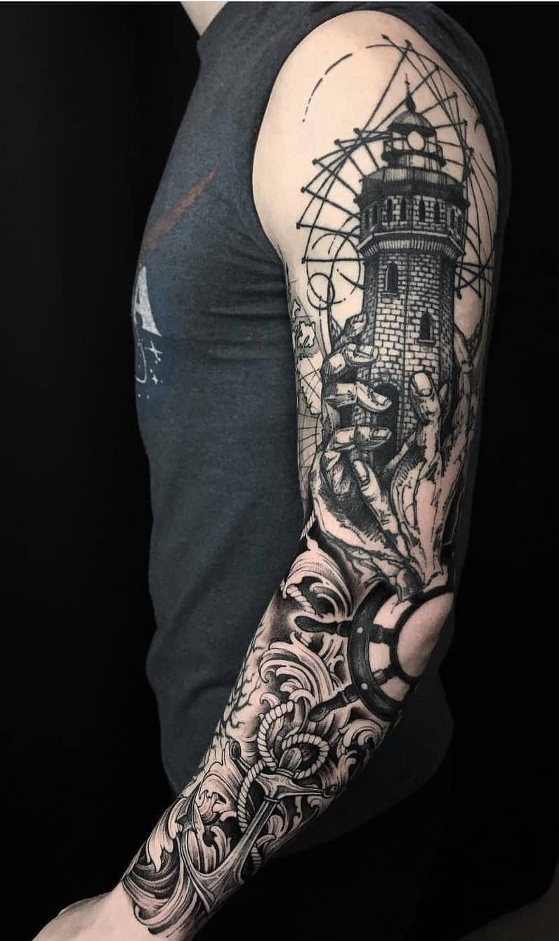 Como Escolher Tatuagem Homem 80 tatuagens de braço fechado masculino para se inspirar #1