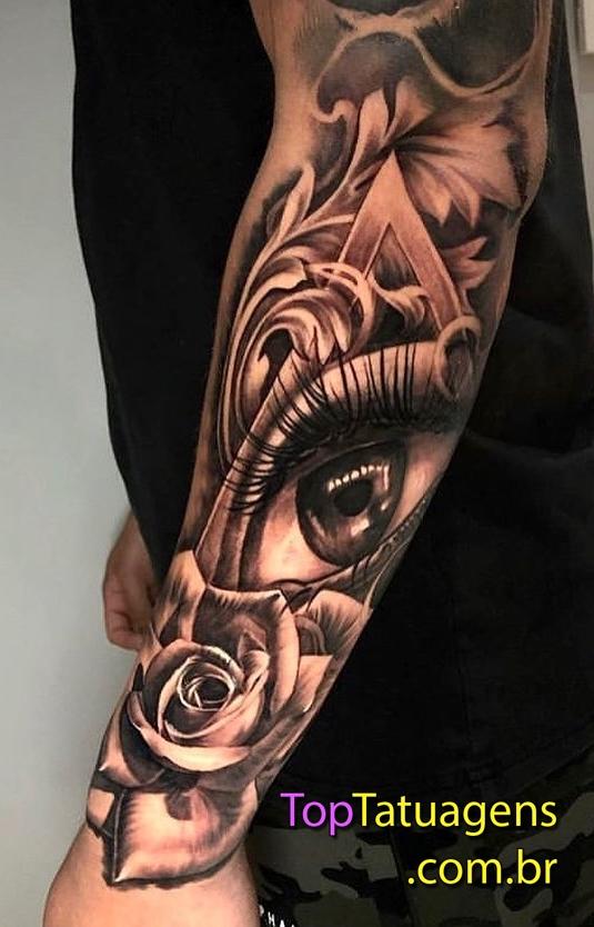 tatuagem-black-grey-no-antebraço