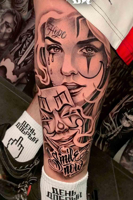 tatuagem-chicana-na-perna