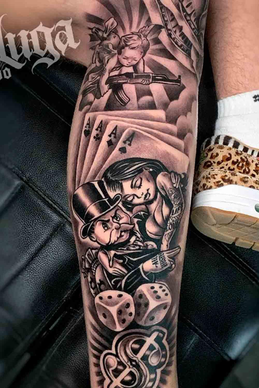 tatuagem-de-cartas-do-baralho-e-dados-na-perna