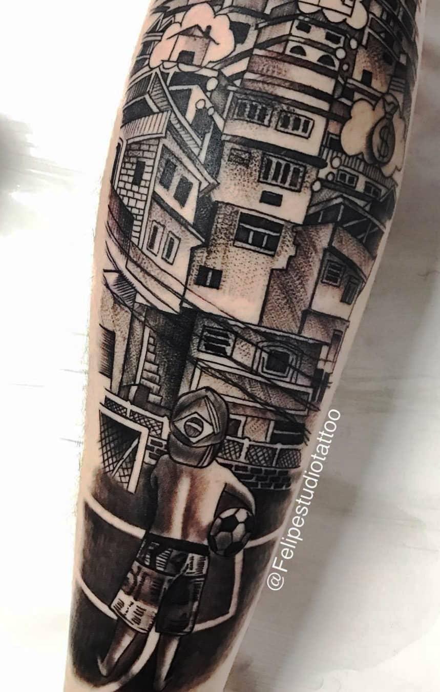 tatuagem-de-favela-no-antebraço