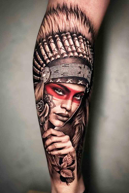 tatuagem-de-india-na-perna-1
