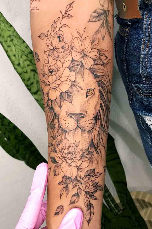 tatuagem-de-leao-feminina-no-antebraco-2021