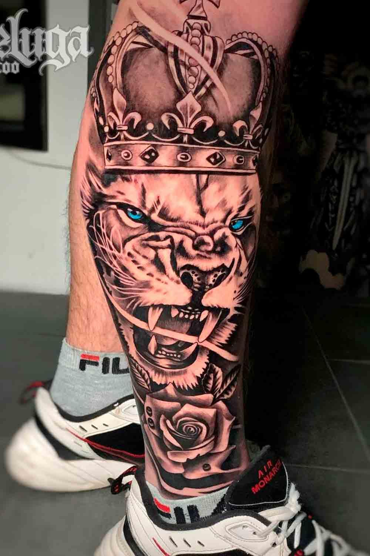 tatuagem-de-leao-na-perna-1