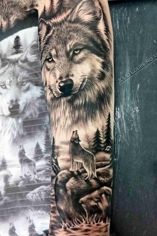 tatuagem-de-lobo-no-antebraco