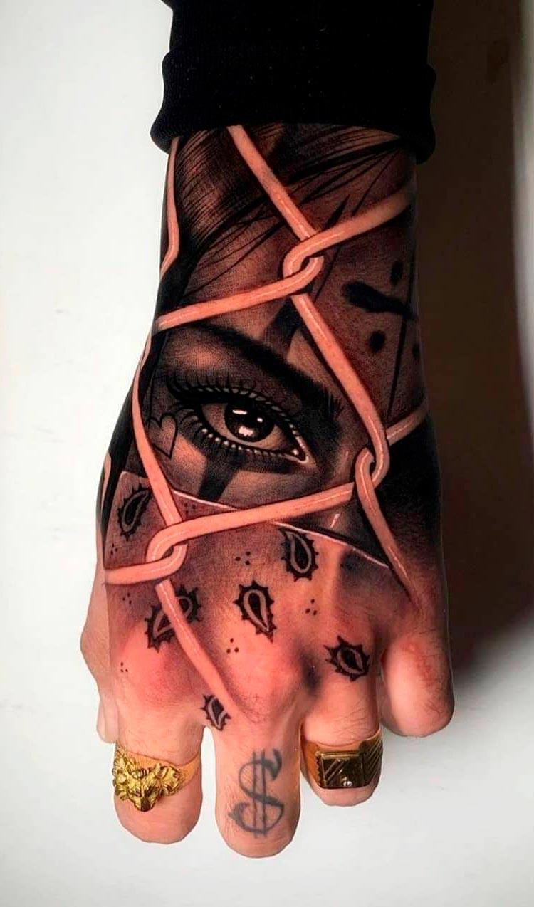 tatuagem-de-olho-atras-da-grade-na-mao