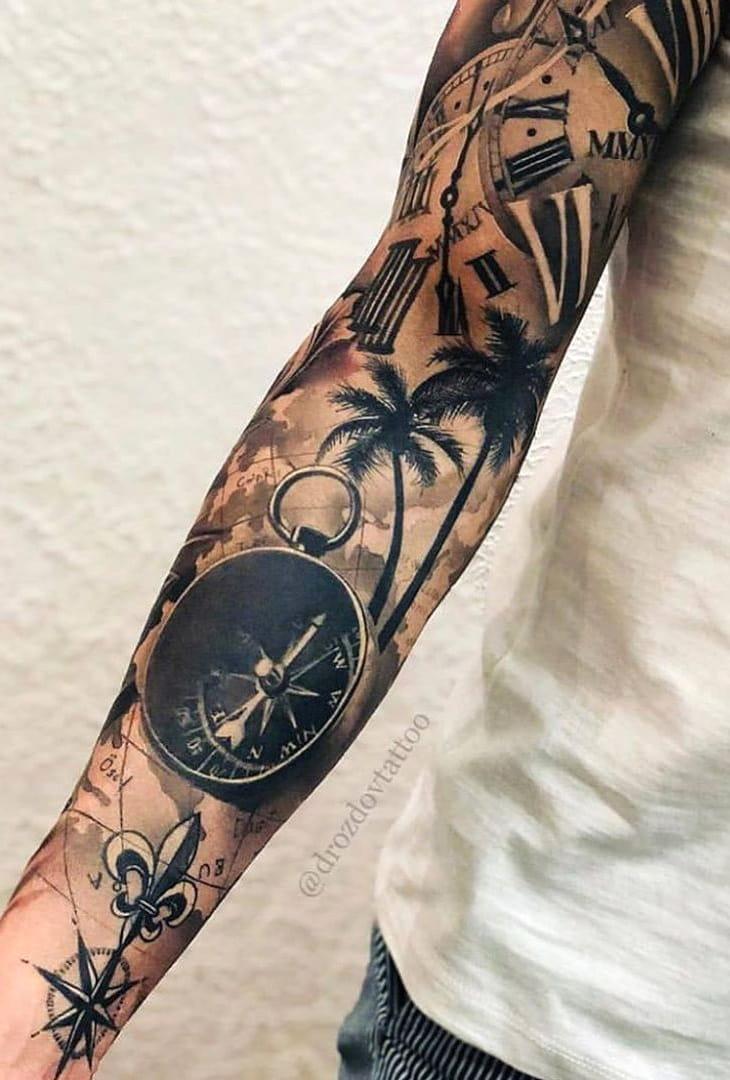 tatuagem-de-praia-no-antebraço