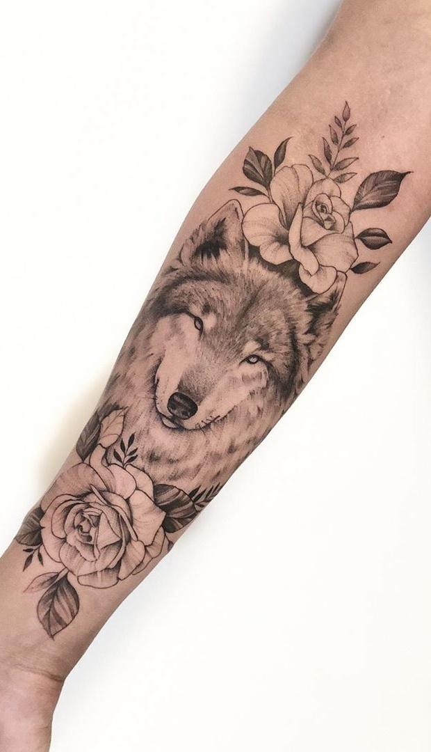 tatuagem-delicada-de-lobo