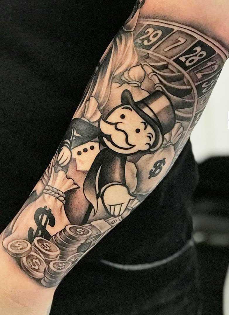 tatuagem-do-riquinho-no-antebraço