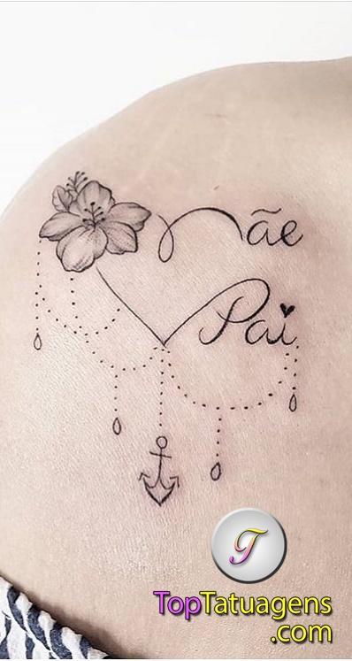 tatuagem-escrita-mãe-e-pai