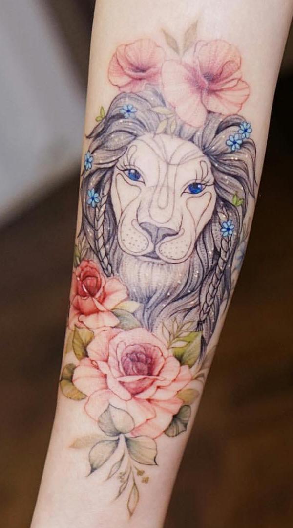 tatuagem-feminina-de-leão-1